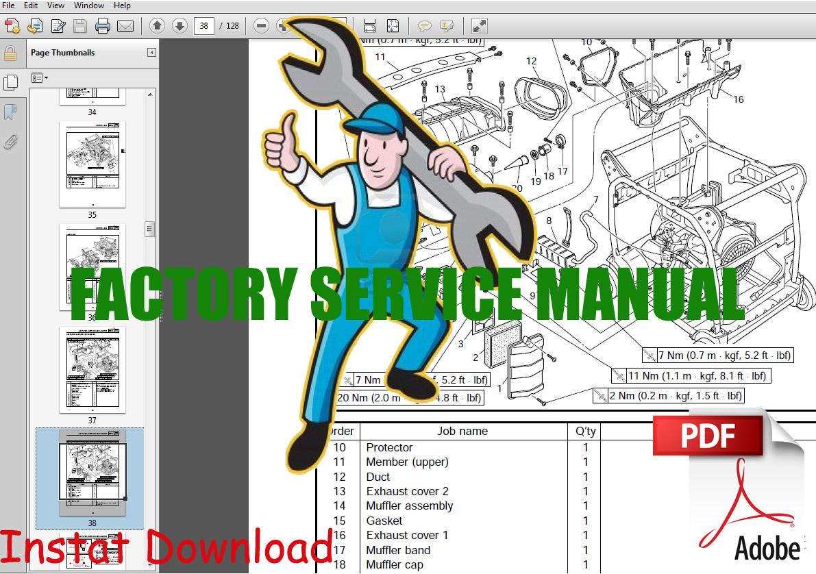 Thumbnail Yamaha EF6600DE Generator Service Manual